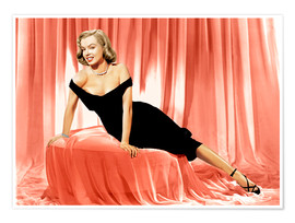 Premium poster Marilyn Monroe in a cocktail dress