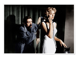 Premium poster  Dial M for Murder, from left: Anthony Dawson, Grace Kelly in 1954