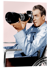 Acrylic print  REAR WINDOW, James Stewart, 1954