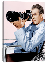 Canvas print  REAR WINDOW, James Stewart, 1954