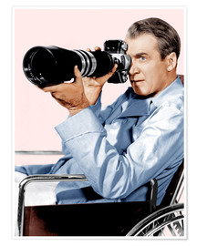 Premium poster  REAR WINDOW, James Stewart, 1954