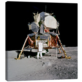 Canvas print  Apollo 11 Astronaut and Edwin Aldrin on the Moon
