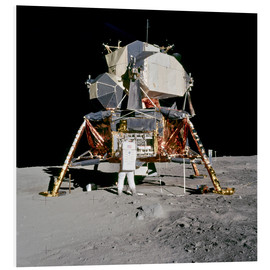 Foam board print  Apollo 11 Astronaut and Edwin Aldrin on the Moon
