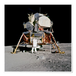 Premium poster Apollo 11 Astronaut and Edwin Aldrin on the Moon