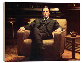 Wood print  The Godfather II