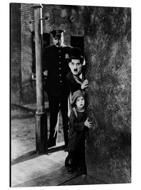 Aluminium print  Tom Wilson, Charles Chaplin and Jackie Coogan in The Kid