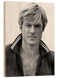 Wood print  Robert Redford