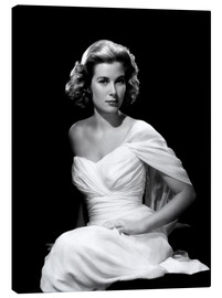 Grace Kelly in a white dress