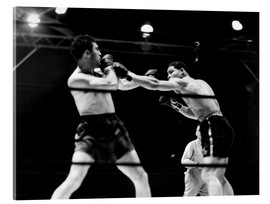 Acrylic glass  Max Schmeling fights against Joe Louis