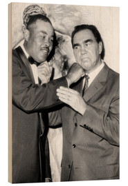 Wood print  Max Schmeling and Joe Louis