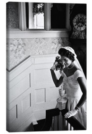 Canvas print  Jackie Kennedy at her wedding