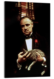 Acrylic print  The Godfather, Marlon Brando