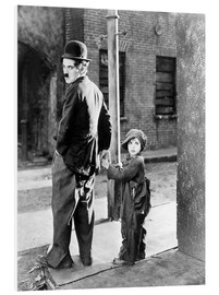 Foam board print  The Kid, Charlie Chaplin, Jackie Coogan, 1921