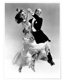 Premium poster  Rita Hayworth and Fred Astaire