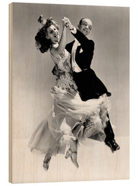 Wood print  Rita Hayworth and Fred Astaire