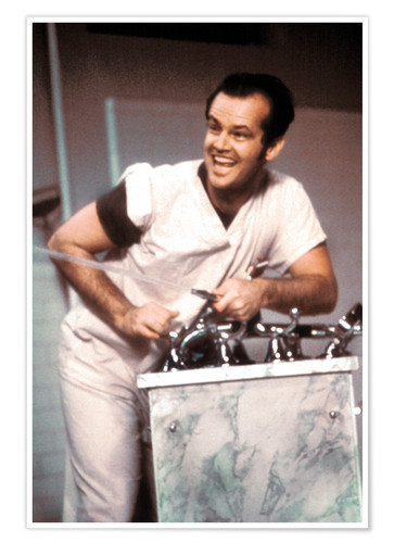 Premium poster Jack Nicholson in One Flew Over the Cuckoo's Nest