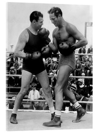 Acrylic glass  Jack Dempsey and Max Baer