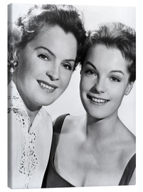 Canvas  Romy Schneider with her mother Magda Schneider