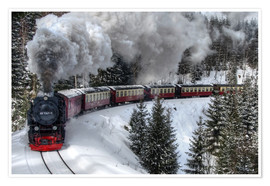 Premium poster Brocken railway
