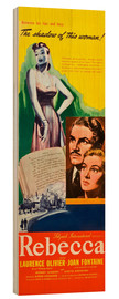 Wood print  REBECCA, from left: Laurence Olivier, Joan Fontaine, 1940.