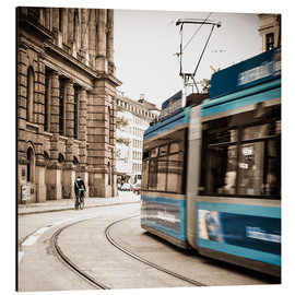 Aluminium print  Munich city traffic - Hannes Cmarits