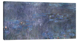 Canvas print  Water Lilies, Reflection of trees 2 - Claude Monet
