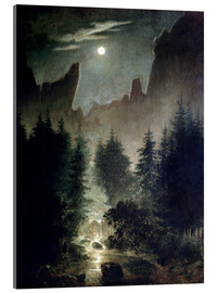 Acrylic print  Uttewalder basic - Caspar David Friedrich