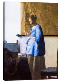Canvas  Woman Reading a Letter - Jan Vermeer