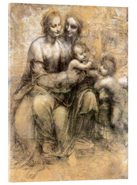 Acrylic print  The Virgin and Child with Saint Anne - Leonardo da Vinci
