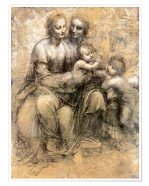 Premium poster The Virgin and Child with Saint Anne