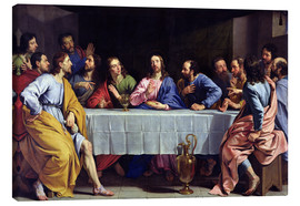 Canvas print  The Last Supper - Philippe de Champaigne