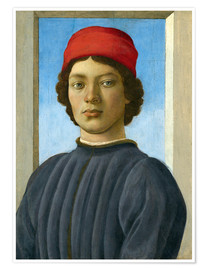 Premium poster Portrait of a Youth