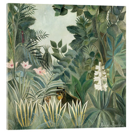 Acrylic print  Equatorial jungle - Henri Rousseau
