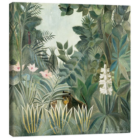 Canvas print  Equatorial jungle - Henri Rousseau