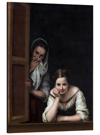 Aluminium print  Women from Galicia at the window - Bartolome Esteban Murillo