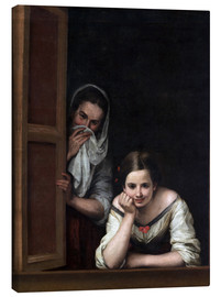 Canvas print  Women from Galicia at the window - Bartolome Esteban Murillo