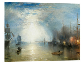 Acrylic print  Keelmen Heaving in Coals by Moonlight - Joseph Mallord William Turner