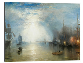 Aluminium print  Keelmen Heaving in Coals by Moonlight - Joseph Mallord William Turner