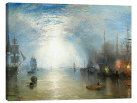 Canvas  Keelmen Heaving in Coals by Moonlight - Joseph Mallord William Turner