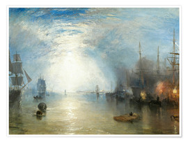 Premium poster  Keelmen Heaving in Coals by Moonlight - Joseph Mallord William Turner