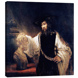 Canvas  Aristotle with a Bust of Homer - Rembrandt van Rijn