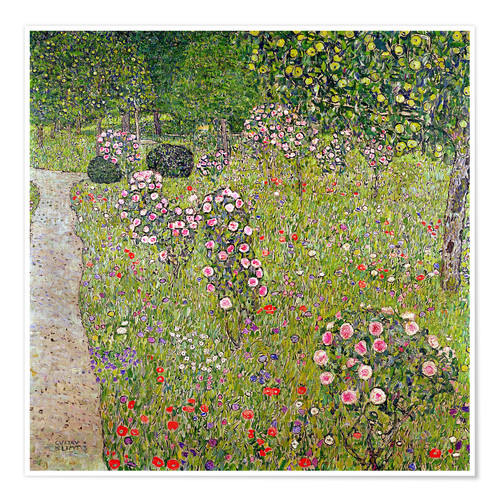 Premium poster Orchard with roses