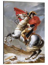 Aluminium print  Napoleon Crossing the Grand Saint-Bernard Pass - Jacques-Louis David