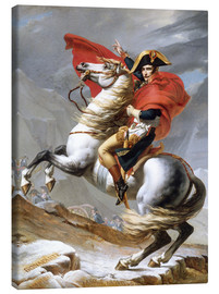Canvas  Napoleon Crossing the Grand Saint-Bernard Pass - Jacques-Louis David