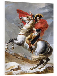 Foam board print  Napoleon Crossing the Grand Saint-Bernard Pass - Jacques-Louis David