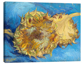 Canvas print  Two sunflowers - Vincent van Gogh