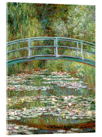 Acrylic print  The Japanese bridge - Claude Monet