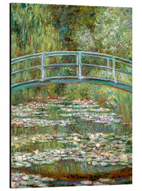 Aluminium print  The Japanese bridge - Claude Monet