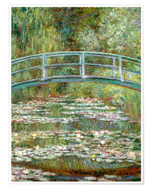 Poster  The Japanese bridge - Claude Monet