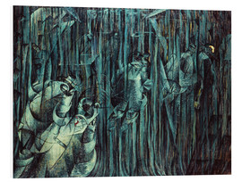 Foam board print  Those Who Stay - Umberto Boccioni